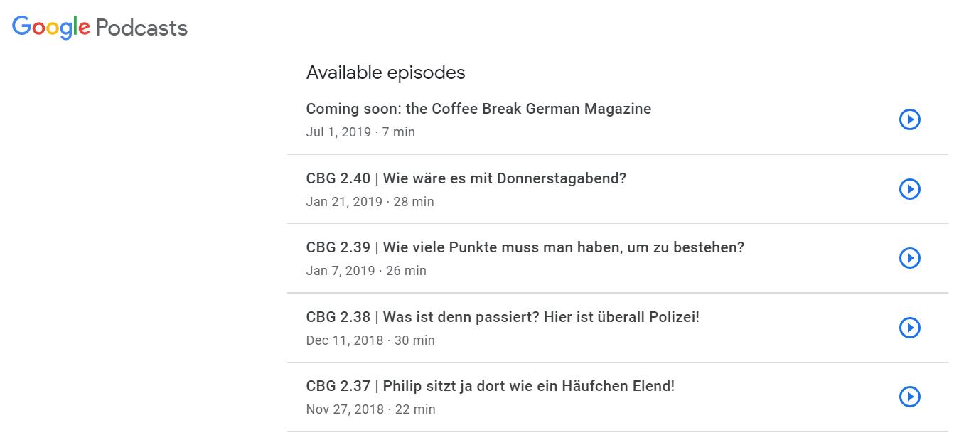 learn german - Coffee Break German
