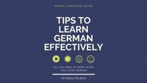 Free Ebook #1 – Tips to Learn German Effectively