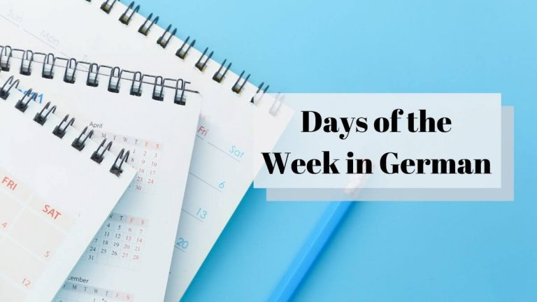 Read more about the article 7 Days of the Week in German – Bonus Audio